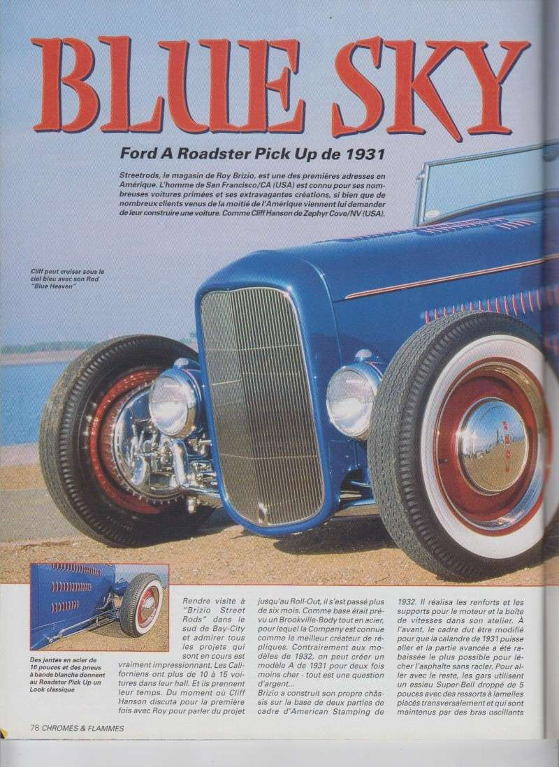 Blue Sky - Ford A Roadster Pick up de 1931 - Chromes Flammes 10510