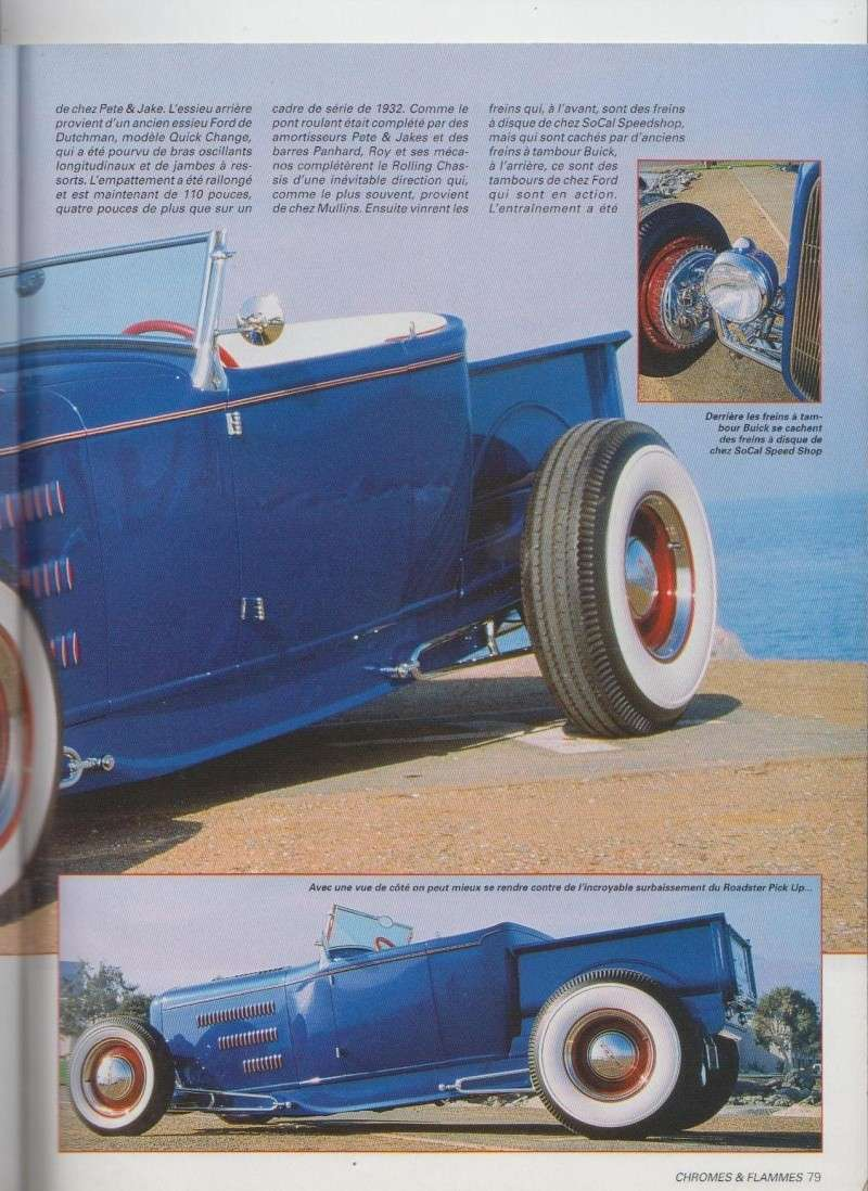 Blue Sky - Ford A Roadster Pick up de 1931 - Chromes Flammes 10610