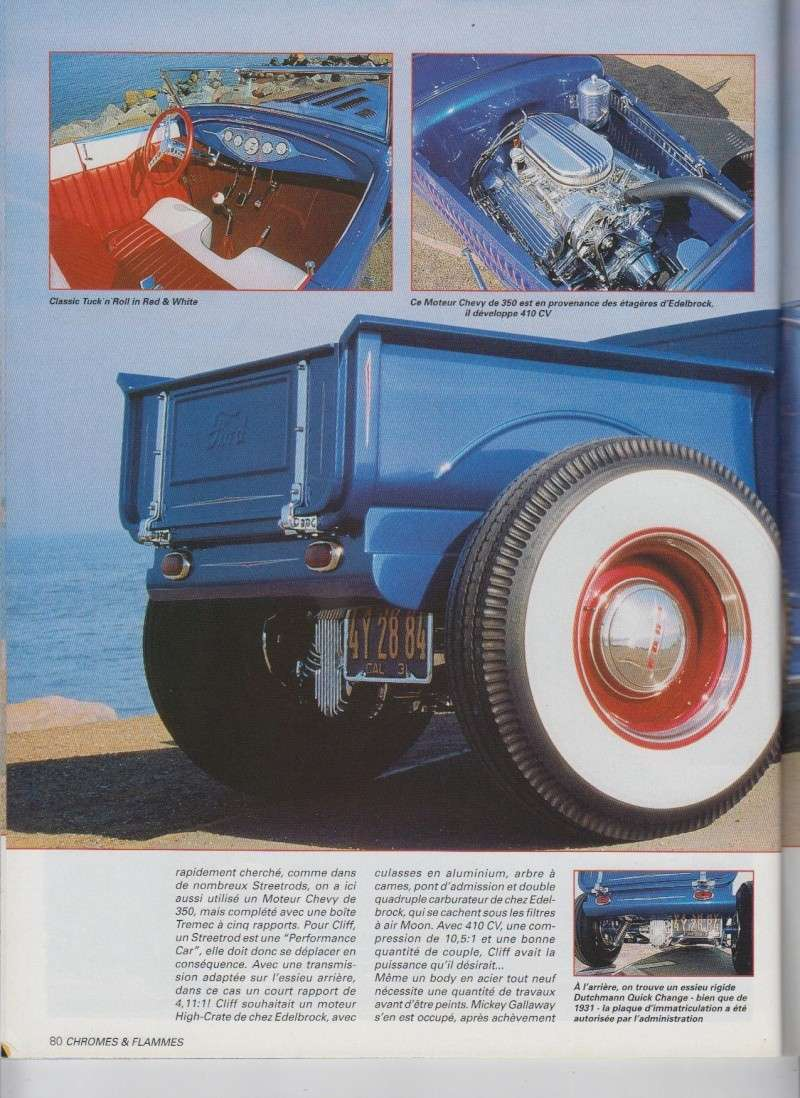 Blue Sky - Ford A Roadster Pick up de 1931 - Chromes Flammes 10710