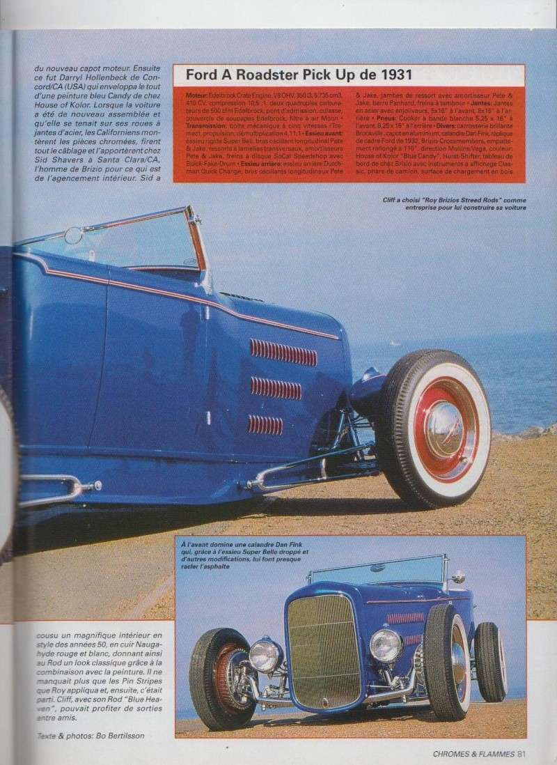 Blue Sky - Ford A Roadster Pick up de 1931 - Chromes Flammes 10810