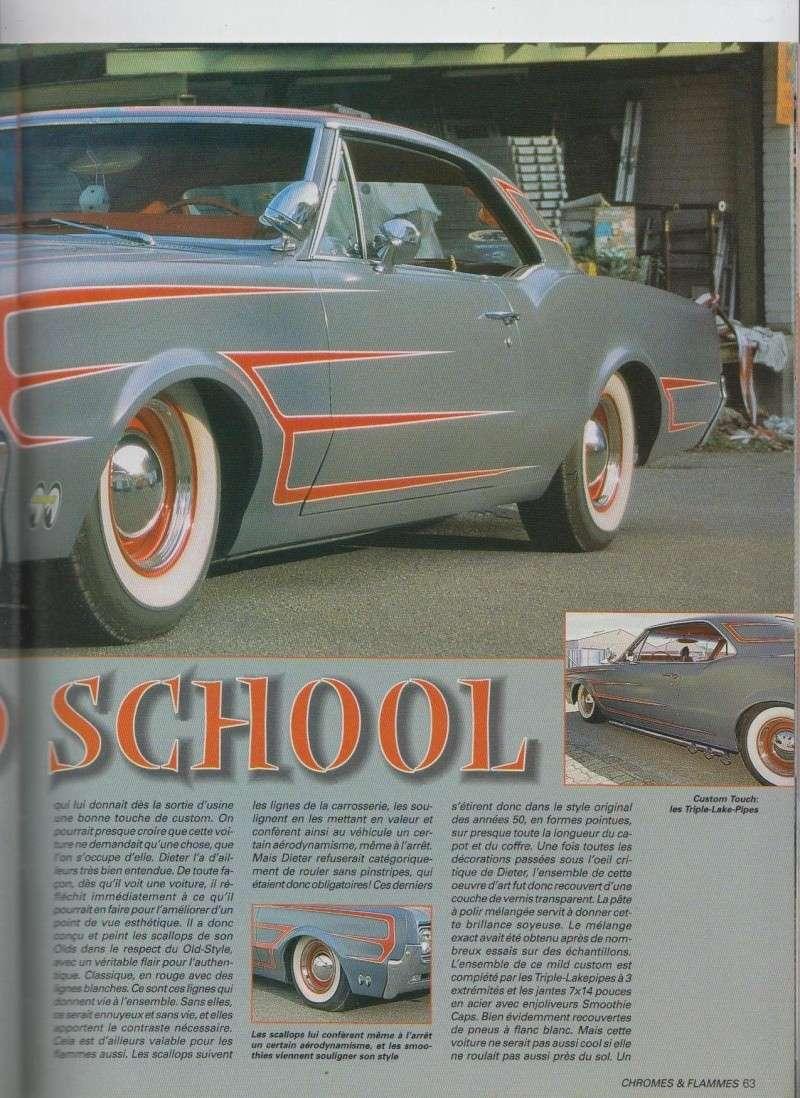 Old(s) School - Oldsmobile Cutlass 1966 custom  - Chromes Flammes 11510