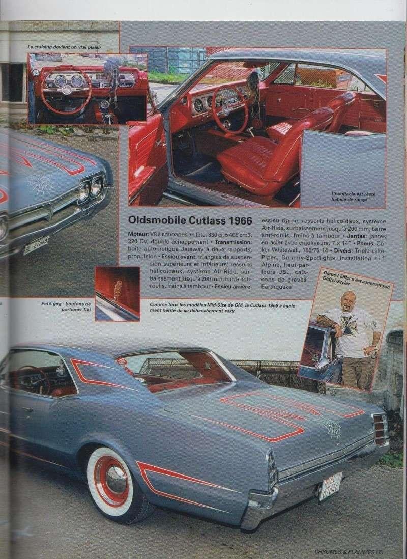 Old(s) School - Oldsmobile Cutlass 1966 custom  - Chromes Flammes 11710