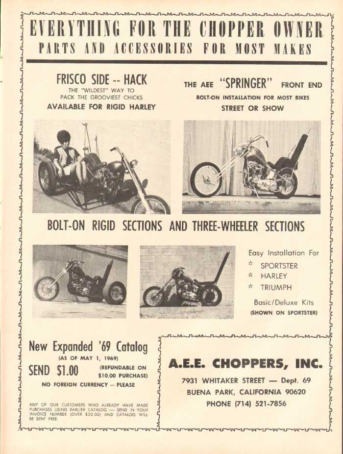 Publicité Choppers & Custom bikes  - Choppper parts ads 2006_p11