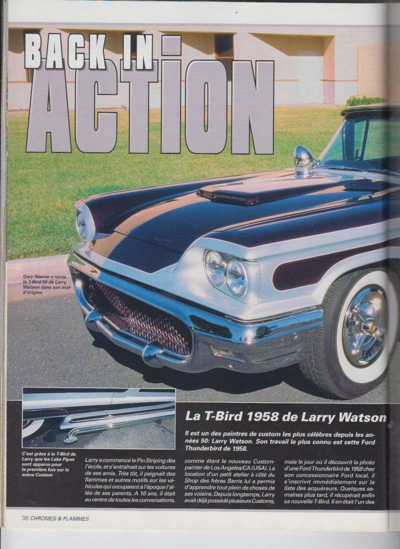 Back in action - '58 T Bird of Larry Watson - Chromes Flammes 9110