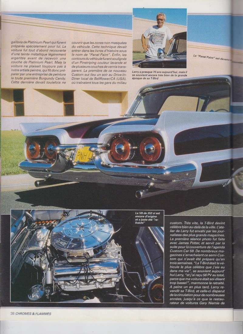 Back in action - '58 T Bird of Larry Watson - Chromes Flammes 9310