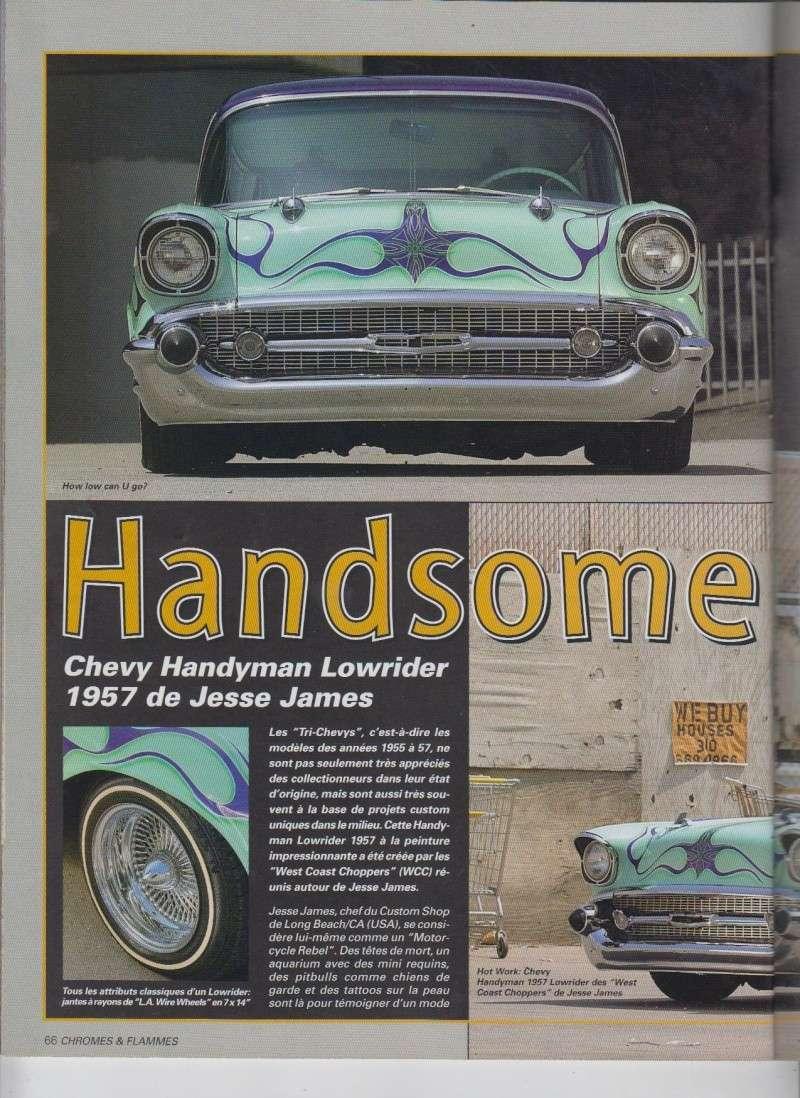 Handsome Handyman - 57 Chevy Handyman Low rider de Jesse James - Chromes Flammes 9510