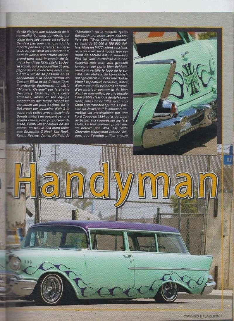 Handsome Handyman - 57 Chevy Handyman Low rider de Jesse James - Chromes Flammes 9610