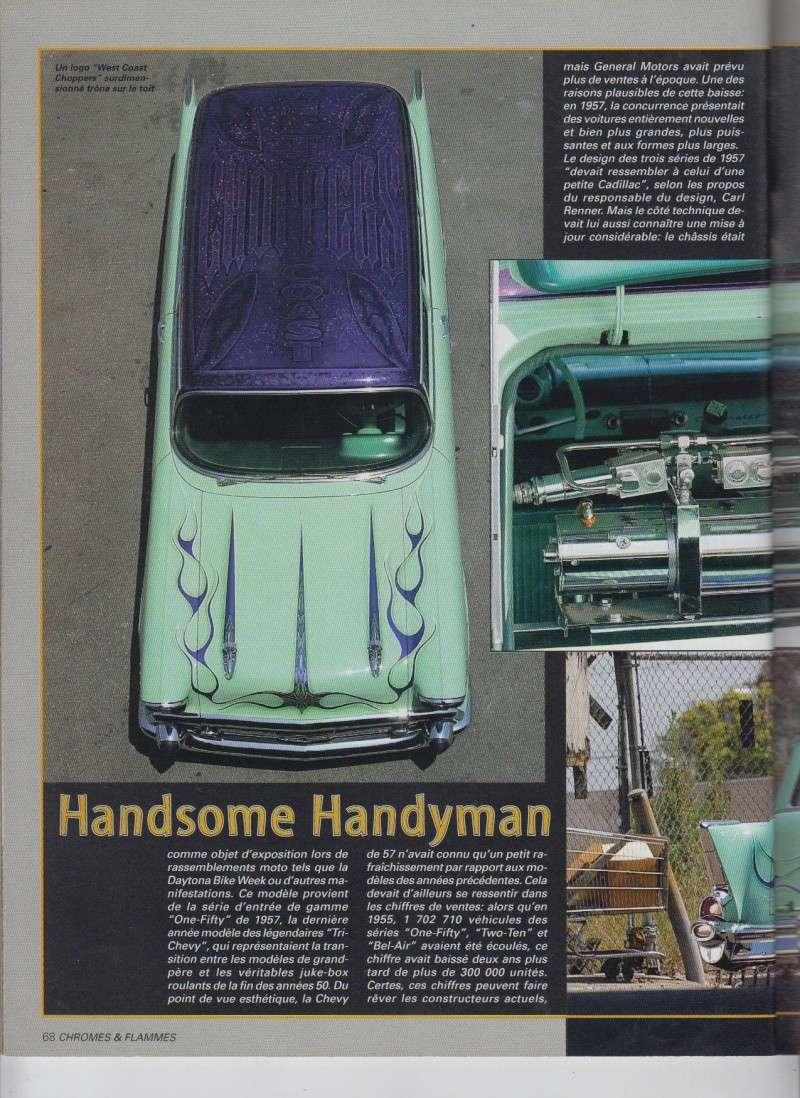Handsome Handyman - 57 Chevy Handyman Low rider de Jesse James - Chromes Flammes 9710