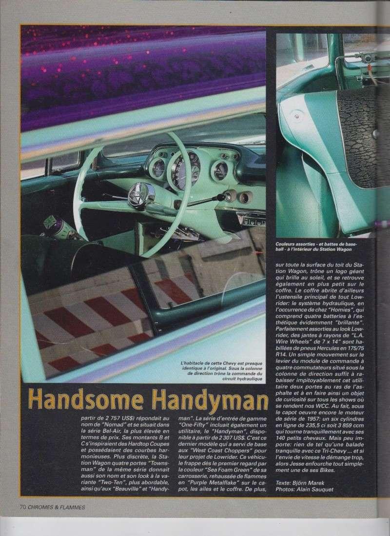 Handsome Handyman - 57 Chevy Handyman Low rider de Jesse James - Chromes Flammes 9910