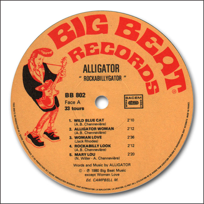 Le label - Big Beat Records - rockabilly to the 1980's  Alliga10