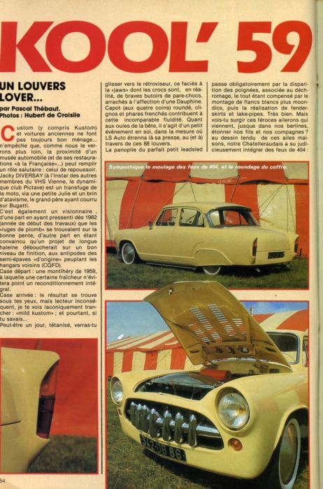 Simca custom & mild custom - Page 2 Aronde28