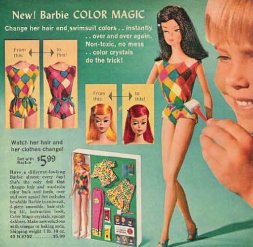 The Original Teenage Fashion Model Barbie Doll - Poupée Barbie des 1950's et 1960's Color-10