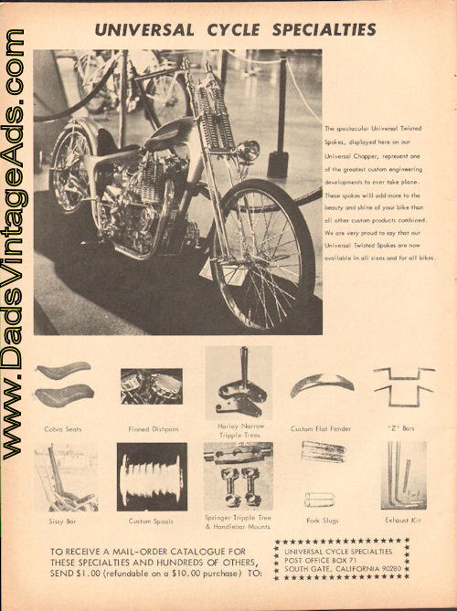 Publicité Choppers & Custom bikes  - Choppper parts ads Modc6910