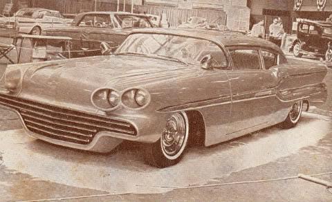 Show Car Old Post Cards - anciennes cartes postale de show car début sixties Postca10