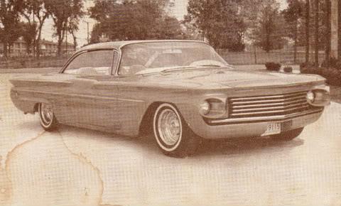 Show Car Old Post Cards - anciennes cartes postale de show car début sixties Postca16