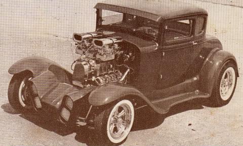 Show Car Old Post Cards - anciennes cartes postale de show car début sixties Postca18