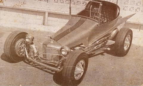 Show Car Old Post Cards - anciennes cartes postale de show car début sixties Postca20