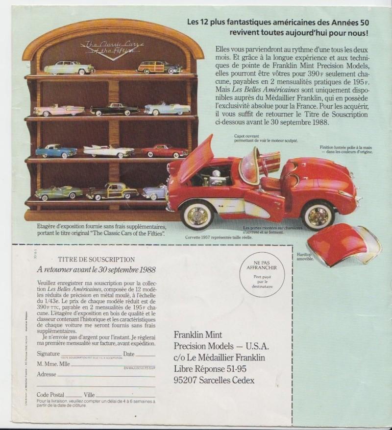 Franklin Mint - Fifties cars - 1/43 scale - Les Belles Américaines Pub_0012