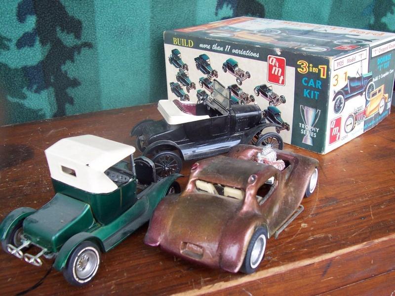 Vintage built automobile model kit survivor - Hot rod et Custom car maquettes montées anciennes Rtg10