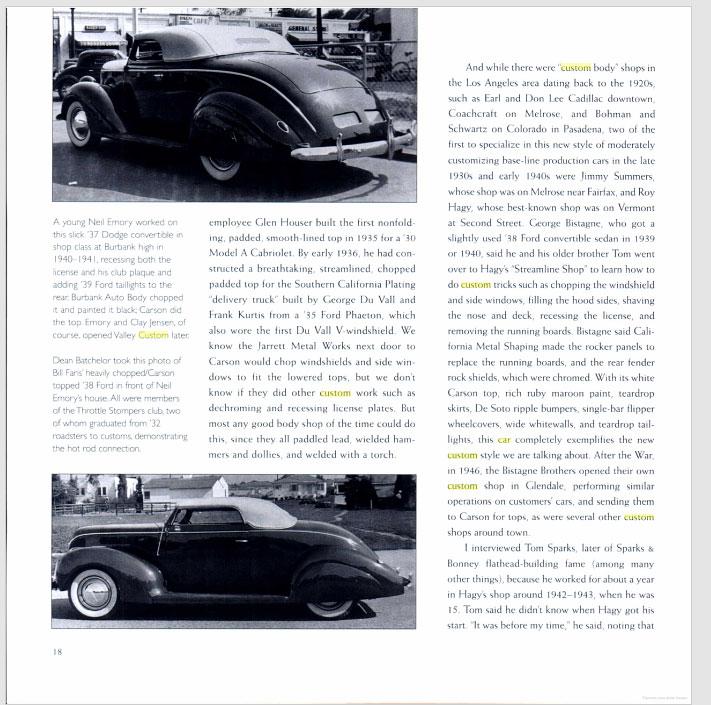The American Custom Car - Pat Ganahl - Motorbook classics Sans-t37