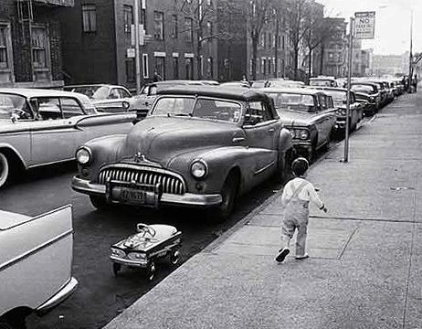 Rues fifties et sixties avec autos - 1950's & 1960's streets with cars Toy1010