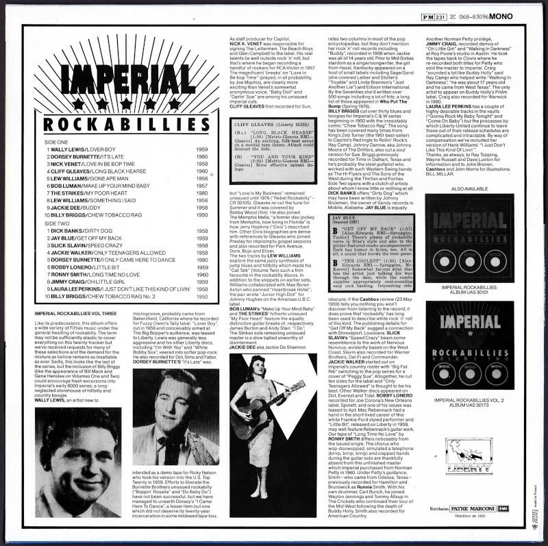 Imperial Rockabillies - 33 t - various fifties rockabilly lp Va_imp12