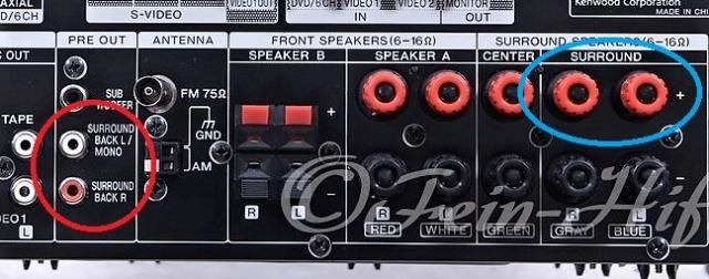 Collegare diffusori surround attivi in un ampli Pre_311