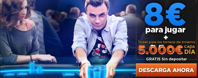 Juega gratis cada dia en 888.es con 5.000€ de premio diario torneos de invierno del 16 al 22 de Diciembre  888_es11