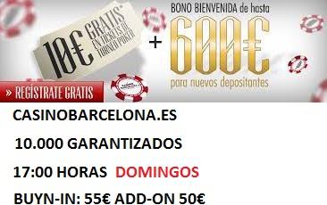 10000 GT EN Casinobarcelona.es todos los domingos este 24/11/2013 y la IFPE  Casino10