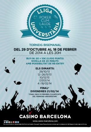 iga Universitaria Pokercumlaude EN casinobarcelona.es el proximo 29/10/2013 Liga_u10