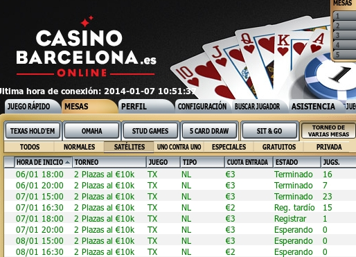 Sala Partypoker y bwin.es Dia: 07/01/2014  Torneo: Bwin series 10 Sateli11