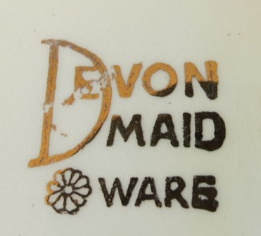 For gallery Devon Maid Ware backstamp Cl_tob11