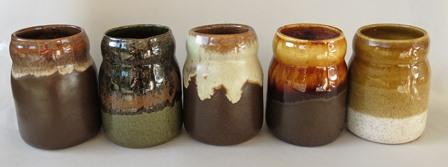 Spice pots are (mostly) Beach Artware for sure Kiln_c14