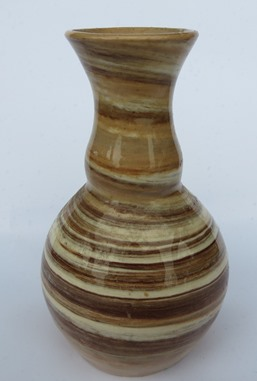 "Cup with a ""shiney grain/ wood veneer finish"" Vase_n10"