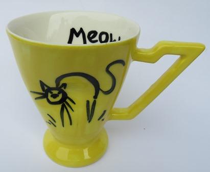 Stage Artware crazy cat mug  X_stag10