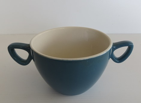 An odd two handled vitrified cup. X_two_10