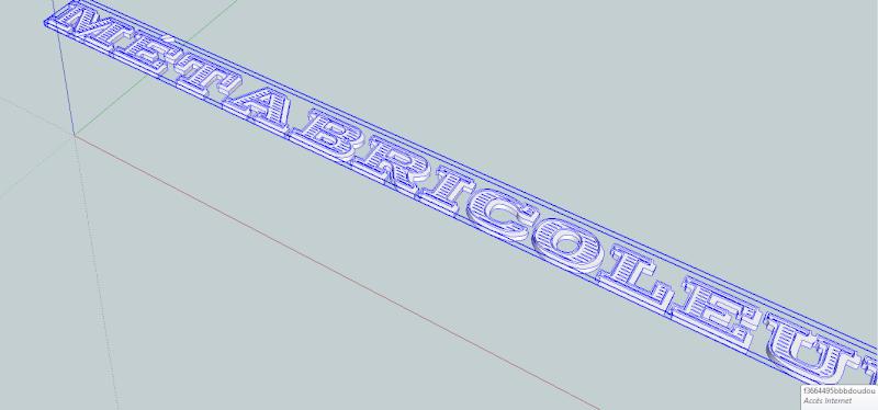"Ecriture en ""3D"" avec Sketchup Pro Sketch11"