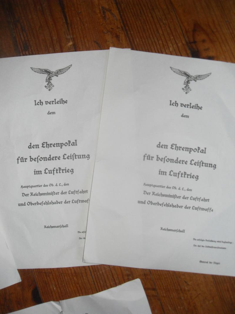 Vitrine Allemande : Diplome Spange EK1 NSDAP 18/05 - Page 2 Sdc12416