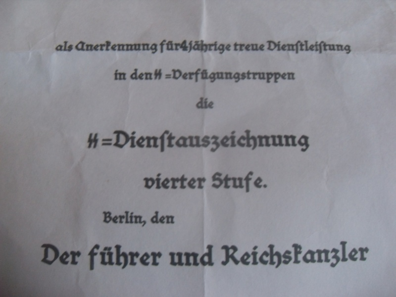 Vitrine Allemande : Diplome Spange EK1 NSDAP 18/05 - Page 2 Sdc12418