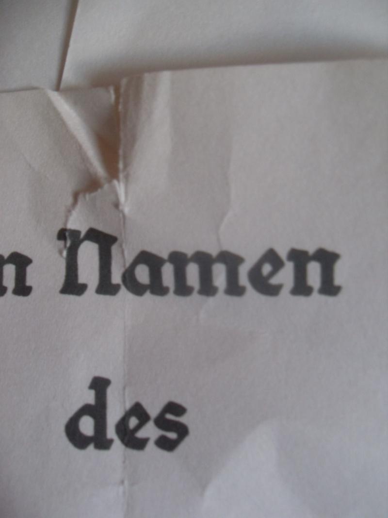 Vitrine Allemande : Diplome Spange EK1 NSDAP 18/05 - Page 2 Sdc12420