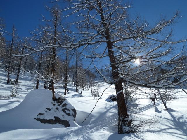 Pointe d'Euzanne par le vallon d'Euzanne samedi 22 février 2014 P1120017