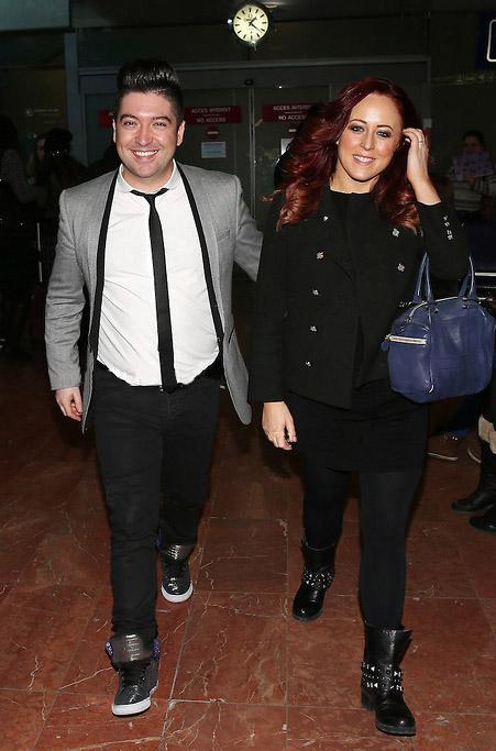 Arrivée de Chris et Jaclyn Spencer à Nice pour la 15ème édition des NRJ Music Awards 2014 Chris311