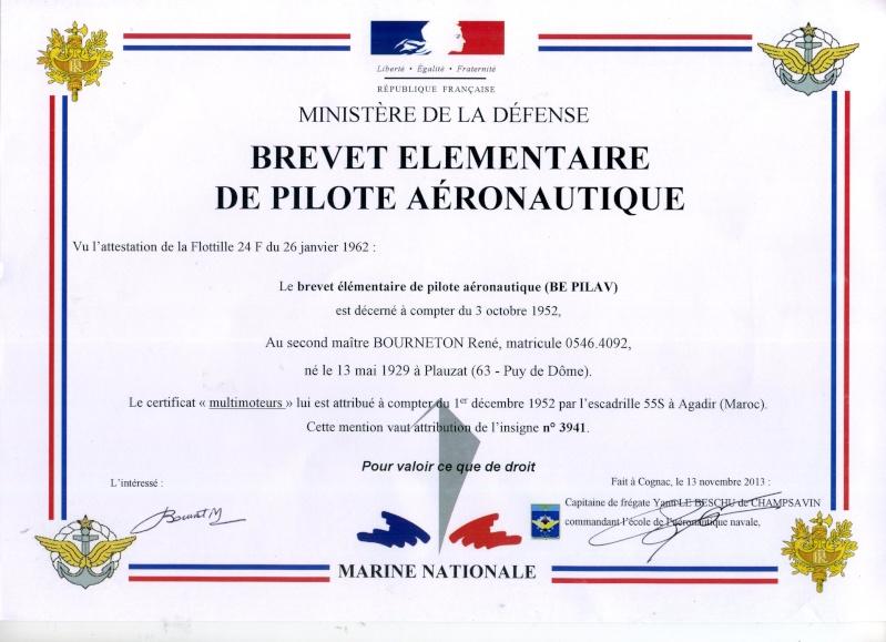 Brevets personnels navigants et pilotes de l'Aeronavale Brevet12