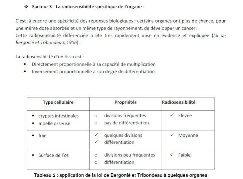 Explication pédagogique de la loi de Bergonie Tribondeau Bergon10