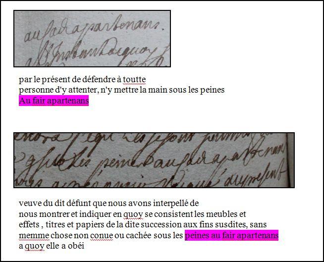 décès - Aide pour transcrition formule dans inventaire après décès - 1737 Sous_l10