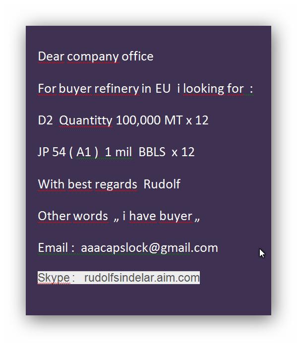 Buyer D2 100.000 MT x 12  and Jp 54 (A1 ) 1 mil bbls  x 12  Oil_bu10