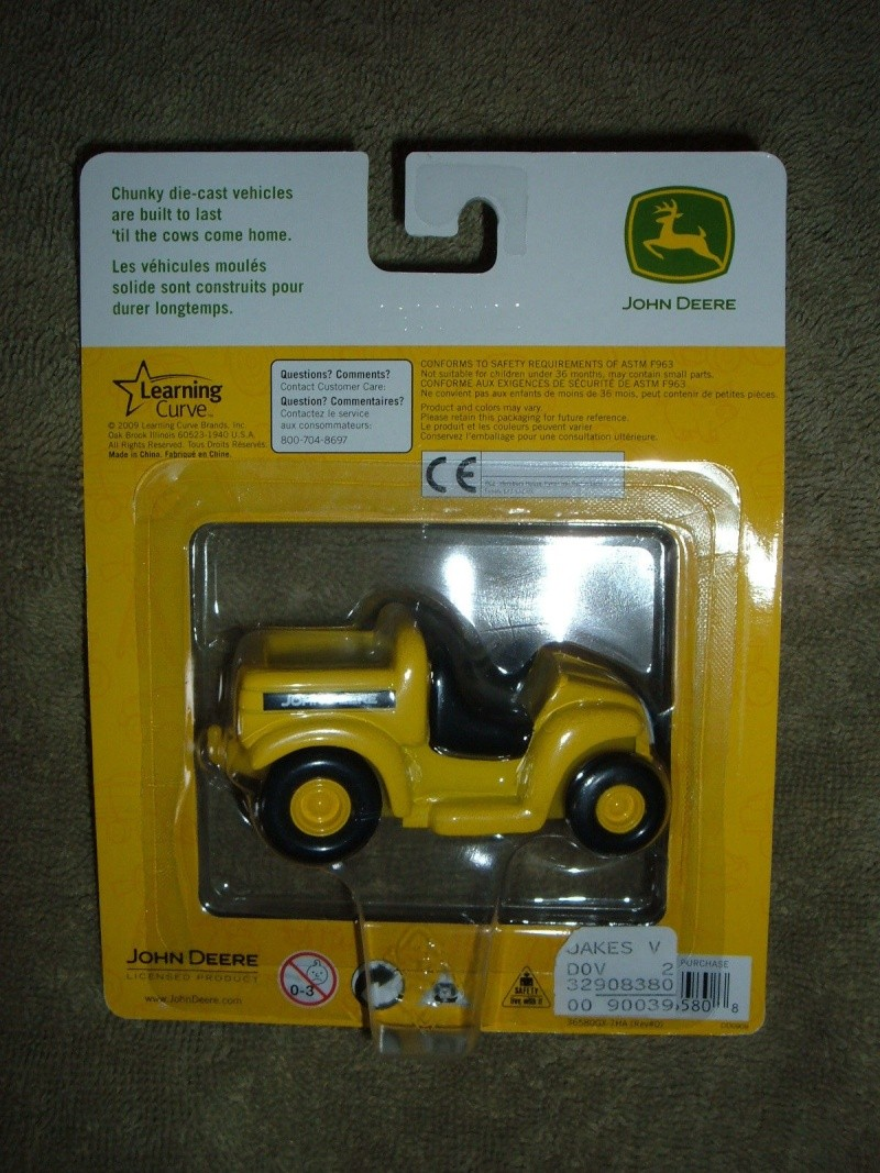 "GATOR 4x2 jaune postal/TP (ERTL ""My First Collectible"") Ertl_m12"