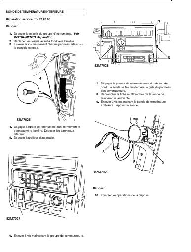 Bruit de moteur électrique ou ventilateur derriere console centrale du tablesu de bord Sonde_10