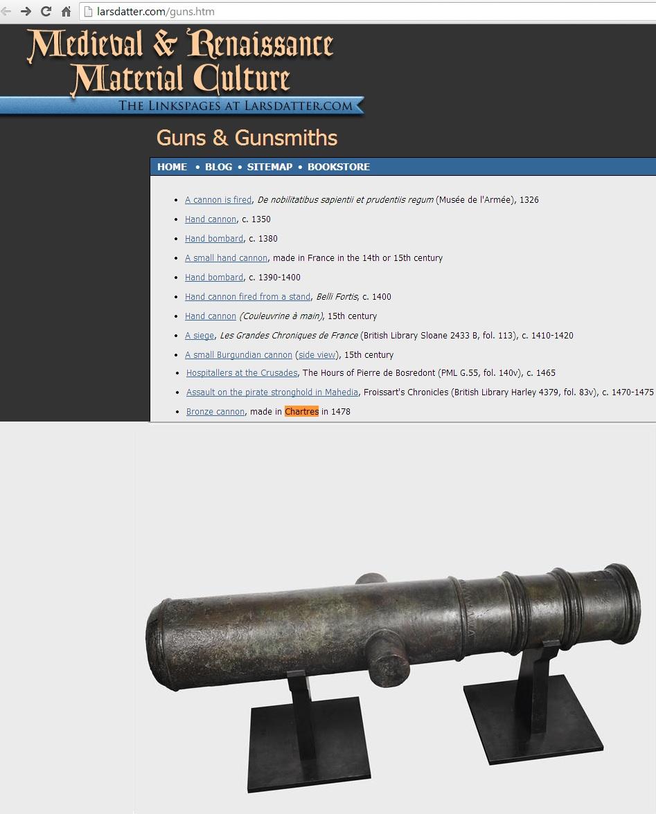 Canon en Bronze fabriqué à CHARTRES en 1478 Bronze10