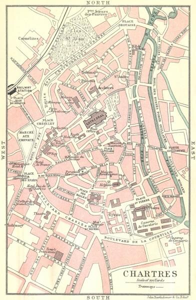 Carte de Chartres en 1914 Chartr12